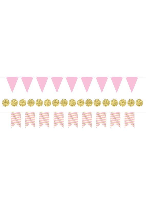 ***Mini Streamer Kit Pink & Gold