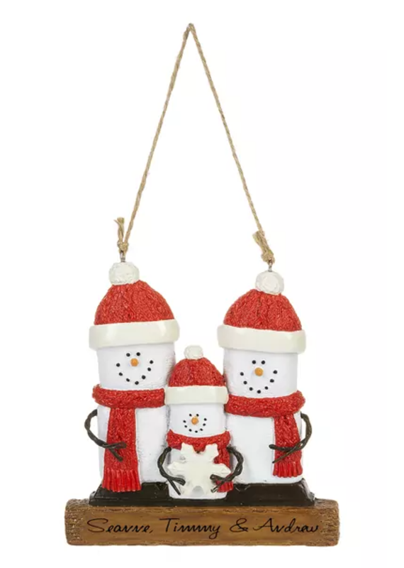 ****Smores Family of Personalized 3 Ornament