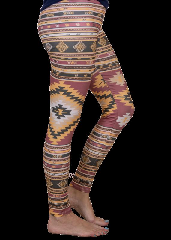 ***Simply Southern Leggings Aztec