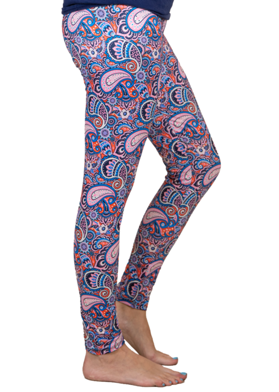 ***Simply Southern Leggings Paisley