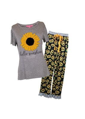 ****Simply Southern Sunshine Sunflower PJs