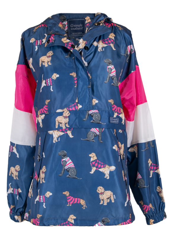 ****Simply Southern Rain Pullover Jacket Dog