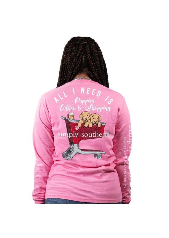 ***Simply Southern Long Sleeve Shop Christmas Flamingo (Target & Starbucks)