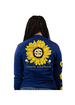****Simply Southern Long Sleeve Sunflower Midnight