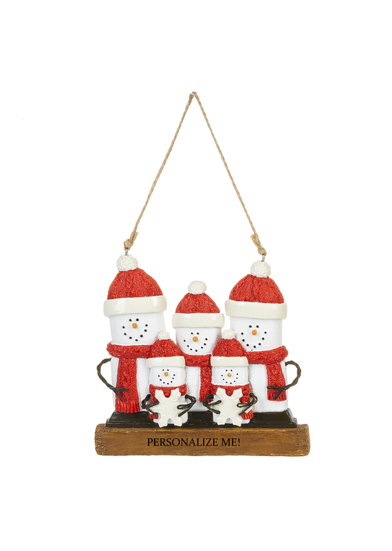 ****Smores Family of Personalized 5 Ornament