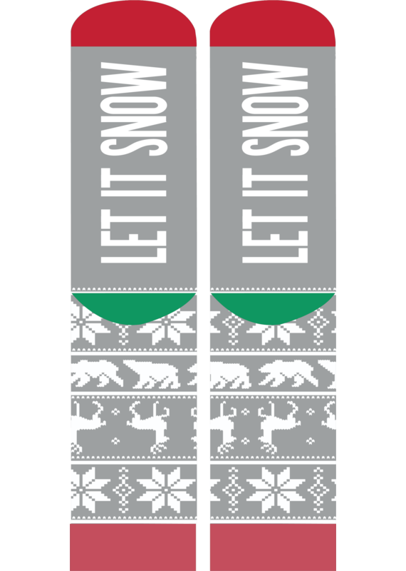 ****Simply Southern Christmas Socks Let it Snow