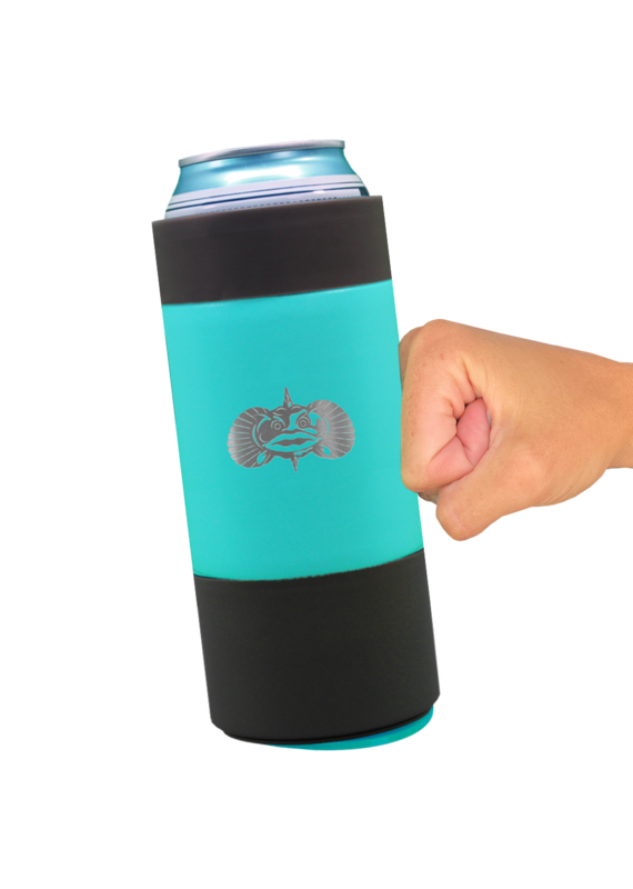 ToadFish ****Teal Non-Tipping Slim Can Cooler by Toadfish