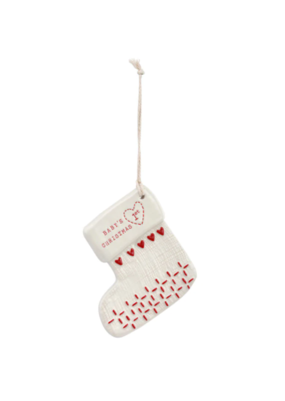 ****Baby's First Christmas Ceramic Ornament