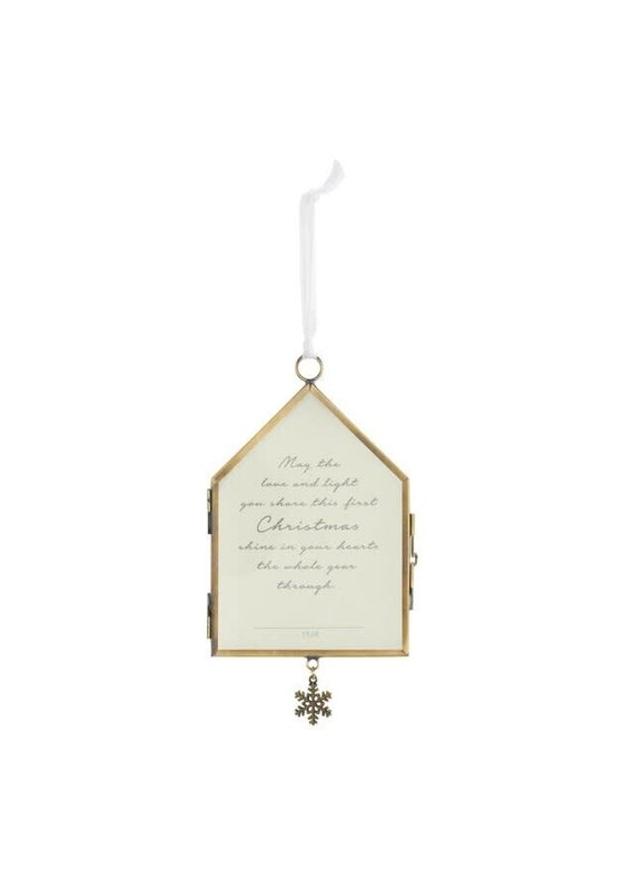 ****Our First Christmas Frame Ornament