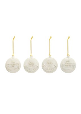 ****Christmas Journey Ceramic Ornaments (4ct)