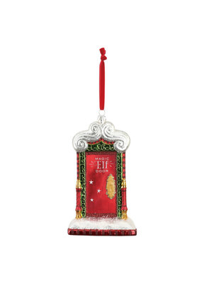 ****Magic Elf Door Glass Ornament
