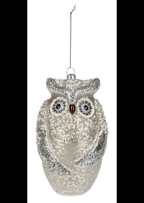 ****LED Glass Owl Ornament