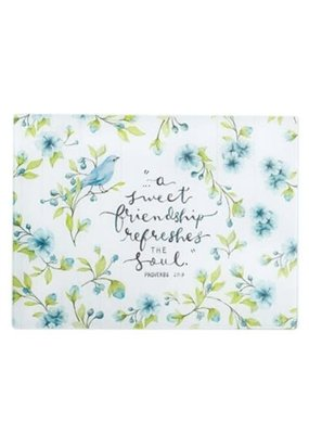 ****A Sweet Friendship Refreshes the Soul Glass Cutting Board