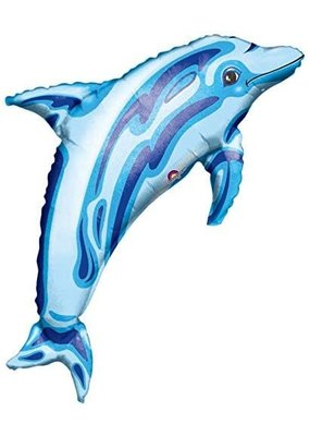 "****Dolphin Super Shape Blue 37"" Balloon"