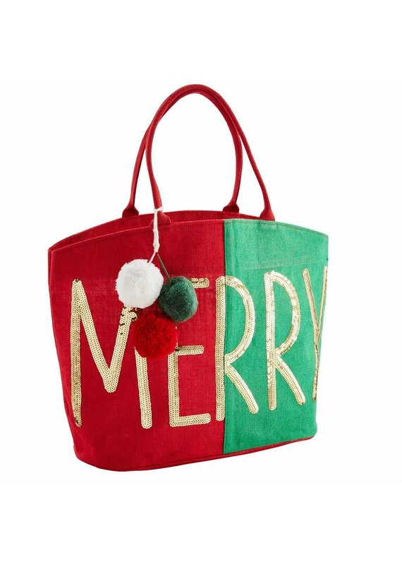 ****Merry Christmas Dazzle Tote Bag