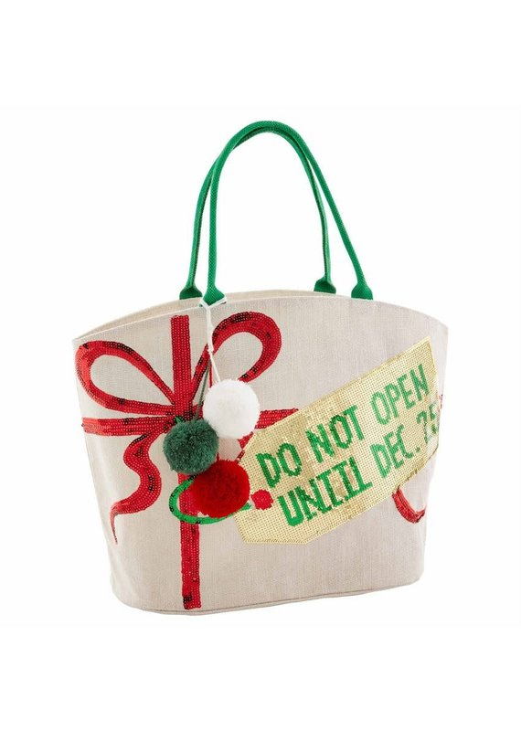 *****Do Not Open Until Christmas Dazzle Tote Bag
