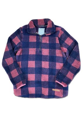 ****Simply Southern Burgundy Buffalo Plaid Sherpa