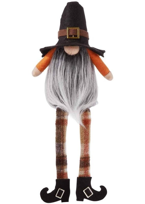 ****Fall Pilgrim Dangle Gnome Shelf Sitter