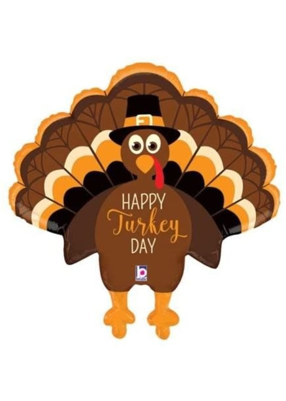 ****Happy Turkey Day Jumbo Mylar Balloon