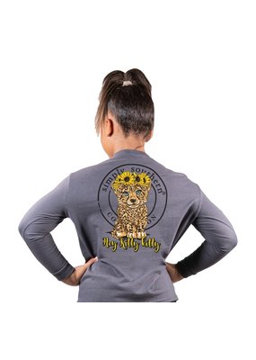 ****Simply Southern Long Sleeve Leopard Iron