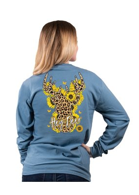****Simply Southern Long Sleeve Deer Stone