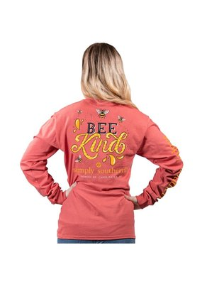 ****Simply Southern Long Sleeve Bee Kind Spice