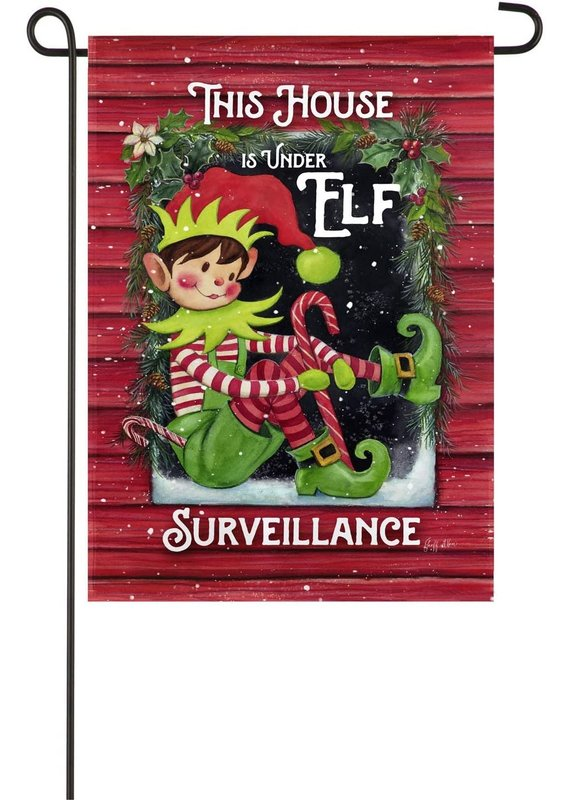 *****Elf Surveillance Garden Suede Flag