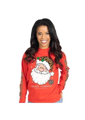 ****Simply Southern Long Sleeve Christmas FALALALA Red