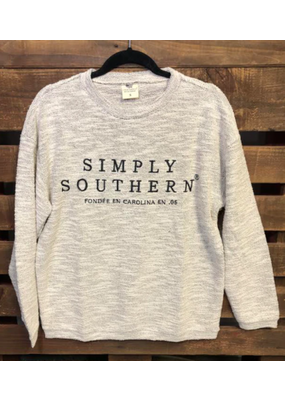 ****Simply Southern Terry Top Gray