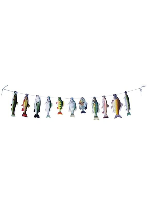 ****Gone Fishin' String of Fish Banner