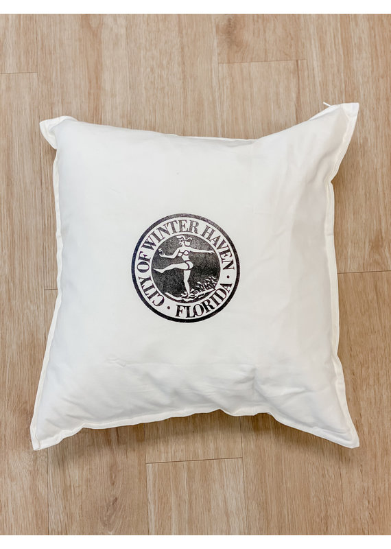 ****Winter Haven Chain of Lakes Pillow (White)