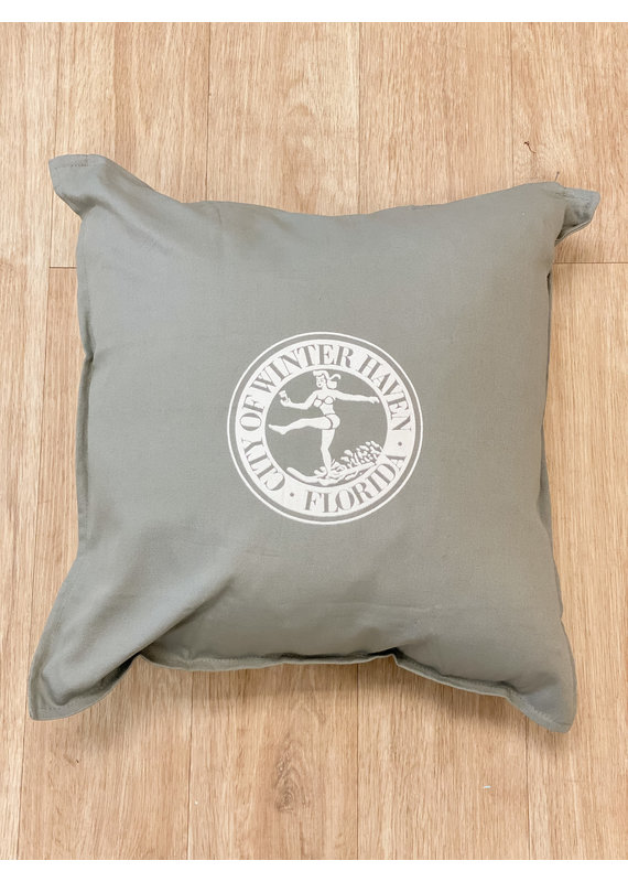 ***Winter Haven Chain of Lakes Pillow (Gray)