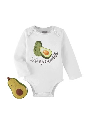 ***Avocado Rattle Onesie and Rattle Set (0-6 month)
