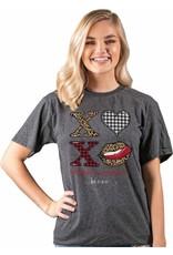 ****Simply Southern Vintage XOXO Valentine's Day Dark Gray