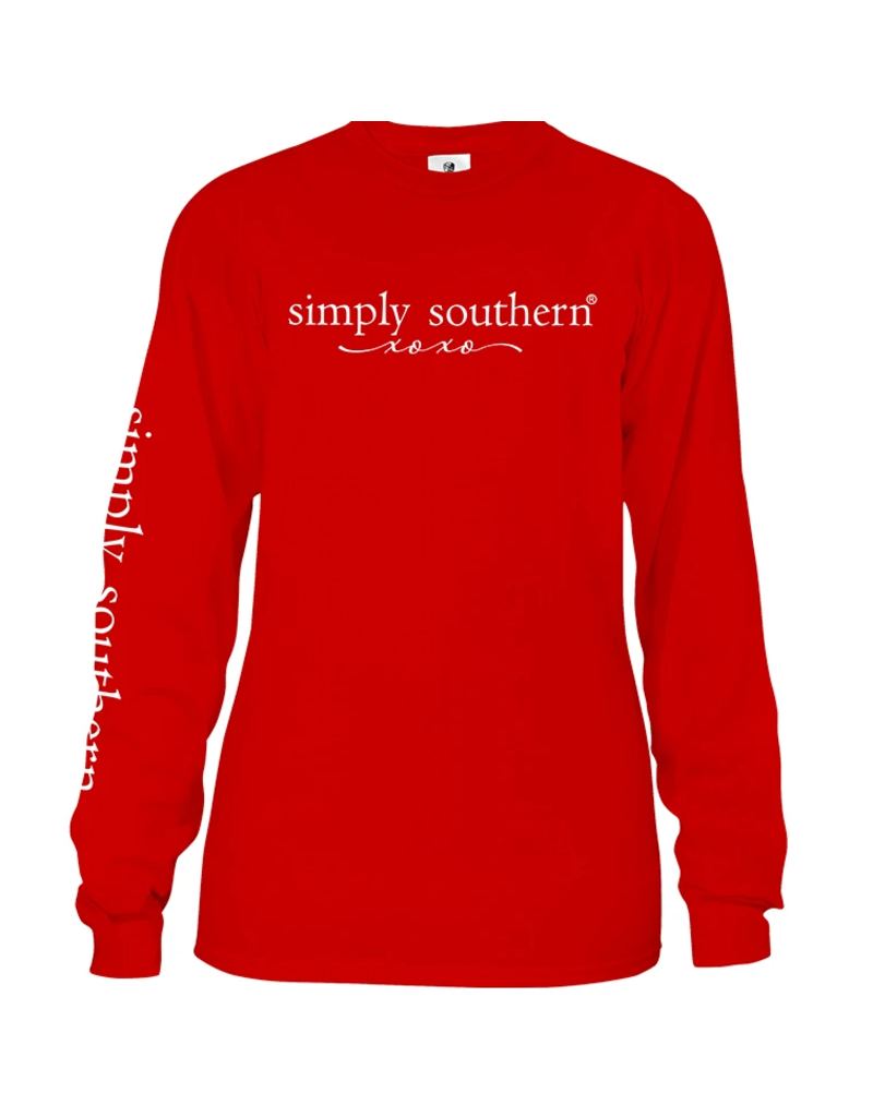 ****Simply Southern Long Sleeve Love Valentine's Day Red