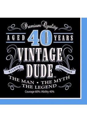 ****Vintage Dude 40 Lunch Napkins 16ct