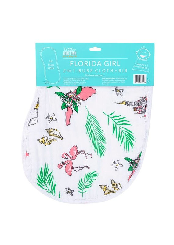 Little Hometown ****Florida Girl Burp/Bib Combo