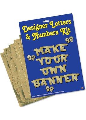 ****Gold Make Your Own Letter Banner