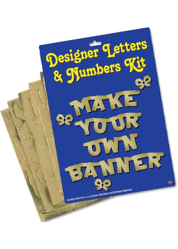 ****Gold Make Your Own Letter Banner