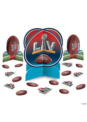 ****NFL Super Bowl LV 2021 Table Decorating Kit 3pc + Confetti