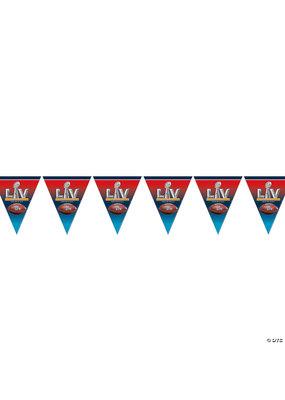 ****NFL Super Bowl LV 2021 Plastic Pennant Banner 12ft