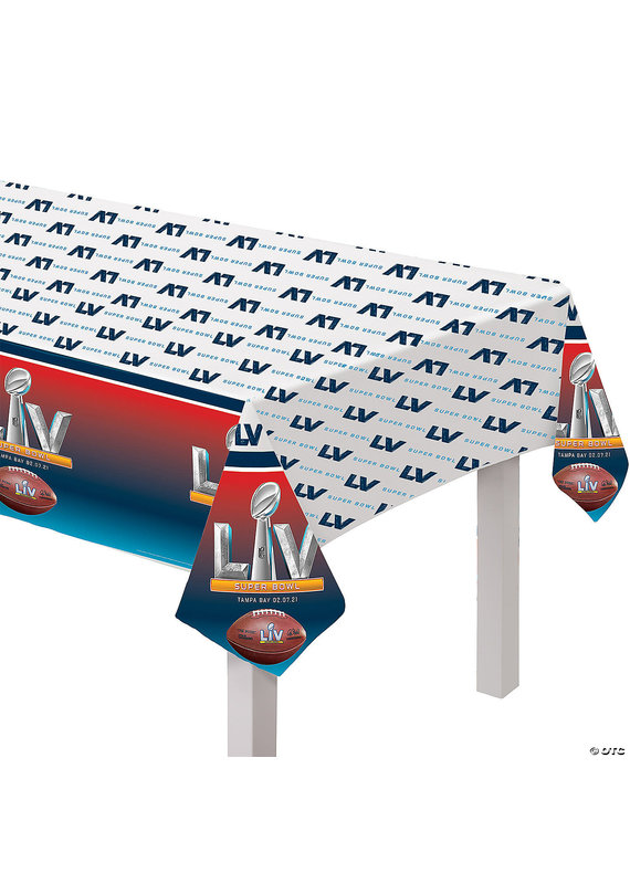 "****Super Bowl LV 2021 Plastic 54""x96"" Tablecover"