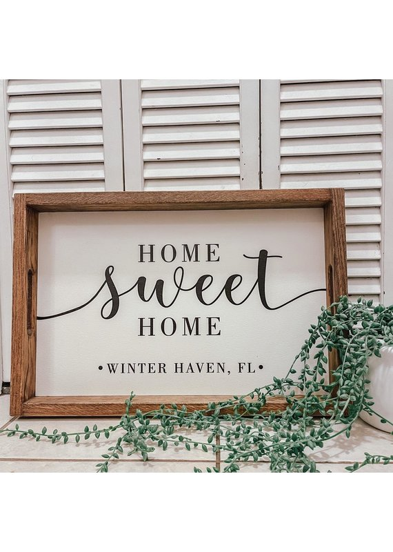 Rustic Marlin ****Winter Haven Tray - Home Sweet Home