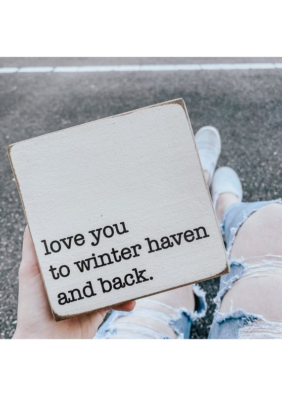 Rustic Marlin ****Rustic Square Block - Love You to Winter Haven