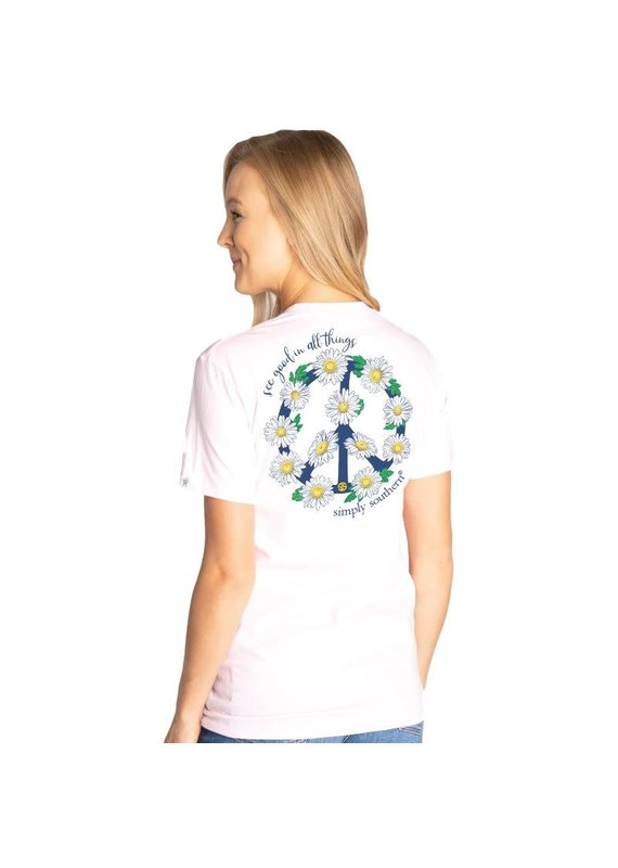 ****Simply Southern Short Sleeve Peace Lulu