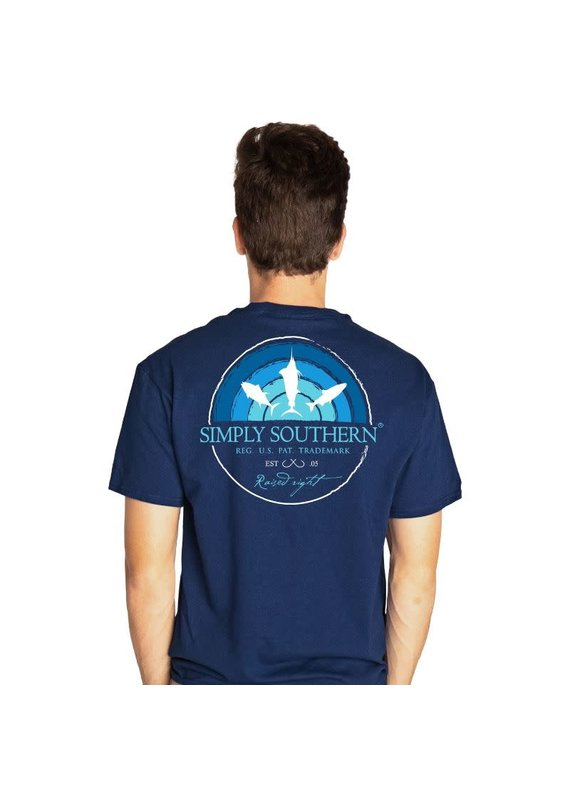 ****Simply Southern Short Sleeve Fish Sky Midnight