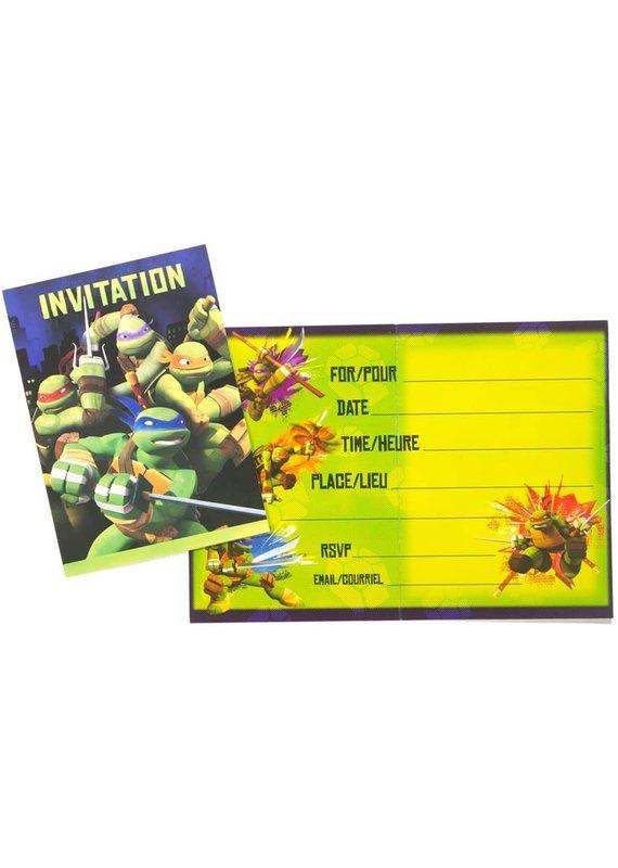 *****Ninja Turtles Invitations 8ct