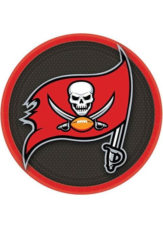 "****Tampa Bay Buccaneers 9"" Plates 18ct"