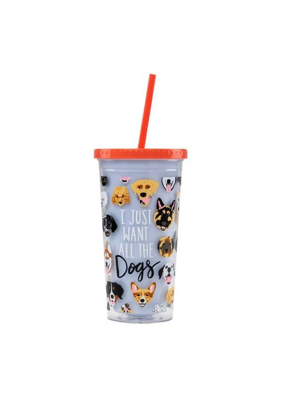 About Face Designs ****I Just Want ALL the Dogs Tumbler