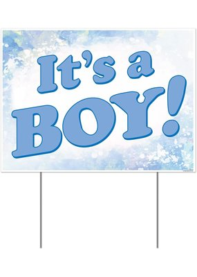 "****It's a Boy Plastic Yard Sign 12""x 16"""